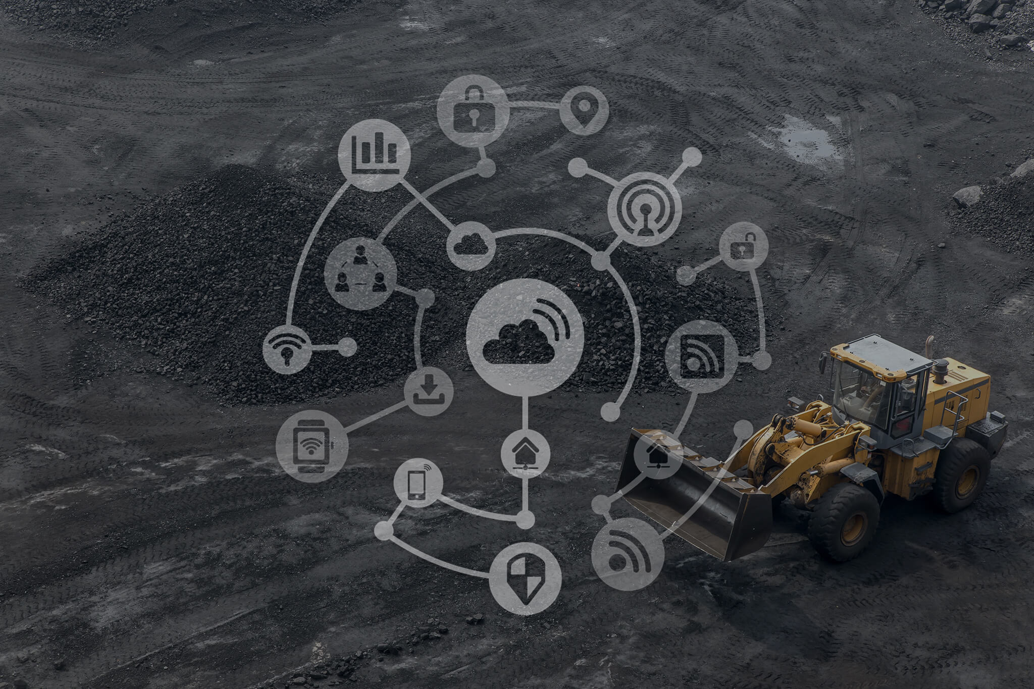 IoT, digital, connection, mining machines,