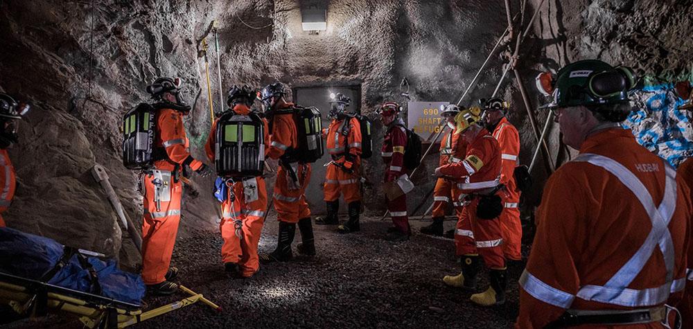 Mine rescue equipment